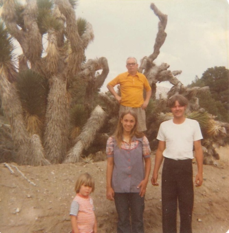 With my grandfather Jim Fogarty, Mom, and her second husband Bob Taylor at Joshua Tree, California, 1974.