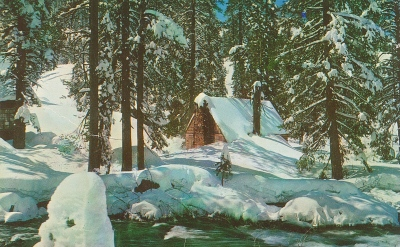A scenic postcard of the Big Bear Lake area, 1970s.
