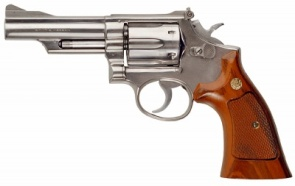 A Smith & Wesson .357 Magnum, similar to Dad's favorite weapon.