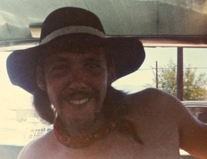 "My stepdad Billy ""Rattlesnake"" Brennan in California, 1977. Billy was ""Dad"" growing up."