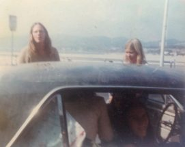 In Santa Monica, California, before our cross-country roadtrip to Key West, Florida, 1974.