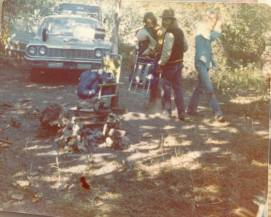 Campsite, somewhere in America, 1974.